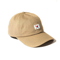 Printed Korean Flag Baseball Cap Women Men Hip Hop Cotton Tan Beige Khaki Strapback Dad Hat