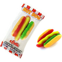 Gummy Hot Dogs Candy: 60-Piece Box