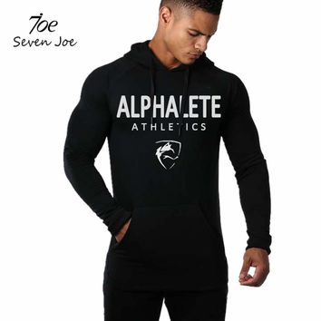 Seven Joe Men gyms hoodies gyms Fitness bodybuilding Sweatshirt Crossfit pullover sportswear male workout Hooded Jacket clothing