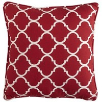 Cabana Geometric Pillow - Tomato