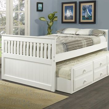 Natalie Full Captains Bed with Storage and Trundle