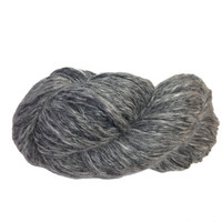 Handspun Alpaca Merino Silk blend Wool, Greys and white, Anthracite colour, 232 yards 117g, extremely soft