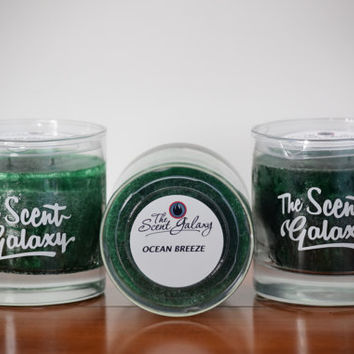 Ocean Breeze Fragrance in Palm Wax , Highly Scented Candle