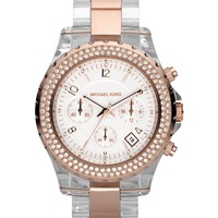 Michael Kors Watch, Women's Madison Clear Acetate Bracelet 42mm MK5323 - Watches - Jewelry & Watches - Macy's