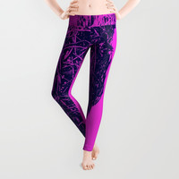 OH DEAR - DARK PINK Leggings by David Darcy