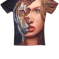 Tiger-beauty Short Sleeve Tee