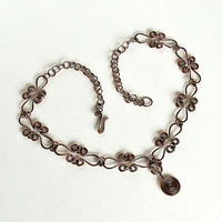 Copper Necklace Hoops & Celtic Spirals Antiqued Copper by Spoon37