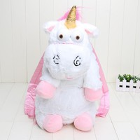 Retail 50cm Despicable Me Despicable Me unicorn bag plush unicorns toy backpack toys for girls kids birthday gift