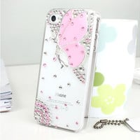 iPhone4/4s Case Rhinestone Butterfly Flying Pattern on Luulla