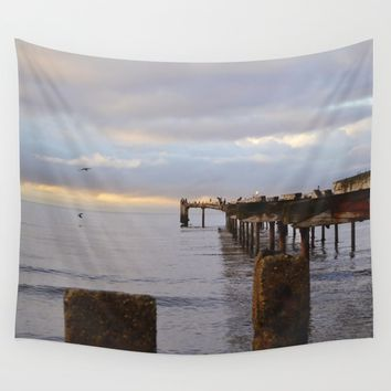 The Seagulls 2 Wall Tapestry by Marco Gonzalez