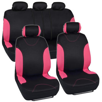 BDK Car Seat Covers Pink Split Option and Side Air Bag Safe | Overstock.com Shopping - The Best Deals on Car Seat Covers