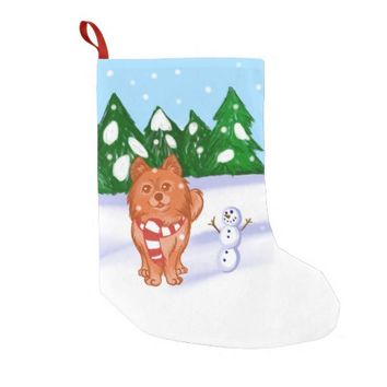 Snow Puppy Small Christmas Stocking