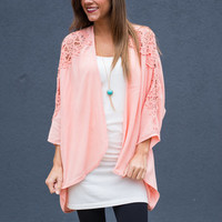 Can't Stop Love Cardigan, Peach