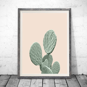 Printable Cactus Art, Pink Print, Cactus Print, Modern Art, Digital Download, Cactus Printable Wall Decor, Modern Art Print, Mountain Print