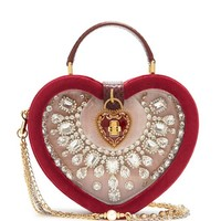 Crystal-embellished heart-shaped bag | Dolce & Gabbana | MATCHESFASHION.COM UK