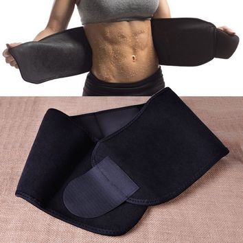 Black Waist Tummy Trimmer Slimming Belt Sweat Band Body Shaper Wrap Weight Loss Burn Fat Exercise For weight reduction