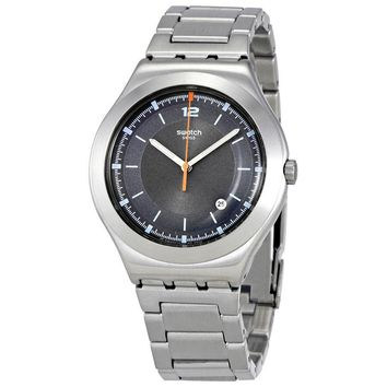 Swatch Flattering Grey Dial Mens Steel Watch YWS425G