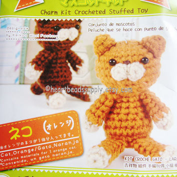 diy amigurumi crochet kit - Cat, id1360657, cute, gift for DIYer, crafter