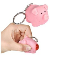Naughty Pig Key Chain