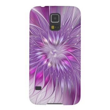 Pink Flower Passion Abstract Fractal Art Case For Galaxy S5