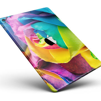 """Rainbow Dyed Rose V4 Full Body Skin for the iPad Pro (12.9"""" or 9.7"""" available)"""