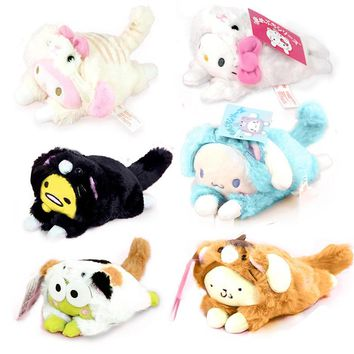 Cute Lying Sleeping Stitch Little Mermaid Chip Dale Marie Cat Piglet Daisy Donald Duck Dumbo Bear Plush Toy Stuffed Animals A Complete Range Of Specifications Toys & Hobbies