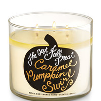Caramel Pumpkin Swirl 3-Wick Candle | Bath And Body Works