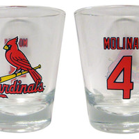 MLB ST Louis Yadier Molina Shot Glass