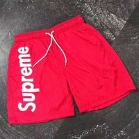 """Supreme"" Fashion Print Casual Beach Pants Summer Sports Cotton Shorts G-A-GHSY-1"