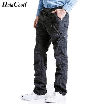 HALACOOD 2017 New Fashion Sexy Best Quality Brand Big Size Cotton Pants Casual Men Clothing Military Army Green Mens Joggers Fat