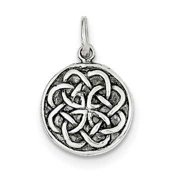 Sterling Silver Antiqued Celtic Knot Charm QC4715