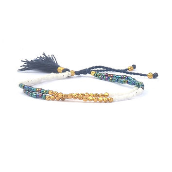 Shinus Bohemia Glass Geometric Bracelets For Women