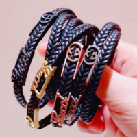 GUCCI Fashion personality new leather rope couple bracelet