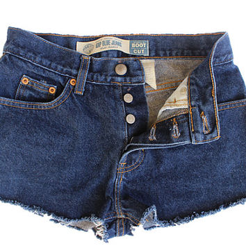 Gap Blue High-waisted Shorts