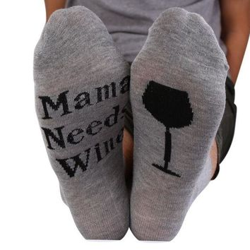 DCCKNY1 Letters Socks Unisex If You can read this Bring Me a Glass of Wine Men Women Sock by Fenta