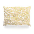 """Pom Graphic Design """"Inca Gold Trail"""" Yellow Brown Oblong Pillow"""