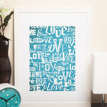 Custom Home Decor- Love Pattern Wall Art