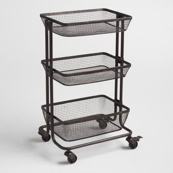 Espresso Metal Evan Rolling Cart