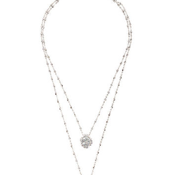 Kate Spade Sweet Nothings Double Pendant Clear ONE