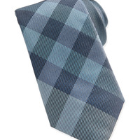 Check Woven Tie, Green, PALE PSTCH GREEN - Burberry