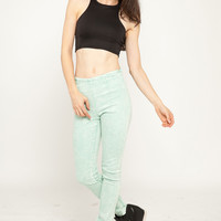 Racer Back Scuba Cropped Top
