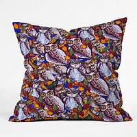 Renie Britenbucher Owls Multi Throw Pillow