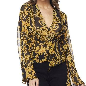 Baroque Beauty Bell Sleeve Top