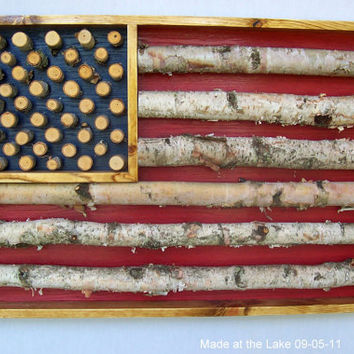 I'm Proud To Be An American Birch Log American by MadeAtTheLake