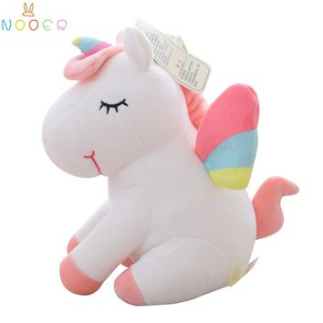 Nooer 25/45/55cm Soft Unicorn Stuffed Animals Baby Doll Unicorn Plush Toy Kids Toy Best Gift For Children