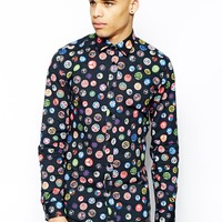 Love Moschino Shirt in Badge Print -