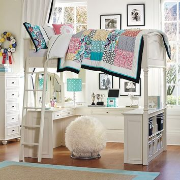 bookshelves for small bedrooms hampton convertible loft bed from pbteen 14638