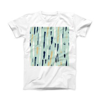 The Neutral Brush Strokes ink-Fuzed Front Spot Graphic Unisex Soft-Fitted Tee Shirt