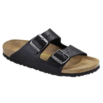 Birkenstock Classic, Arizona, Oiled Leather, Narrow Fit, Black