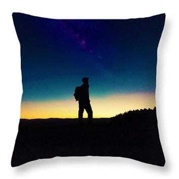 The Milky Way, The Blood Moon And The Explorer By Adam Asar 2 - Throw Pillow